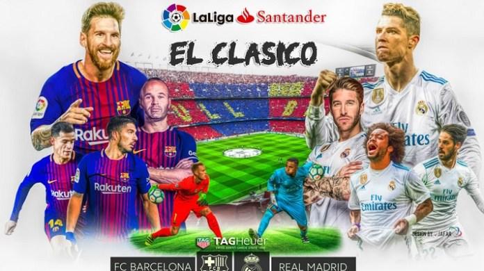 Estadísticas del Clásico Español Real Madrid-Barcelona Historial