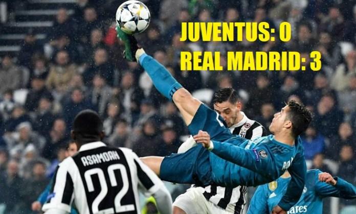 Juventus 0-3 Real Madrid Cuartos