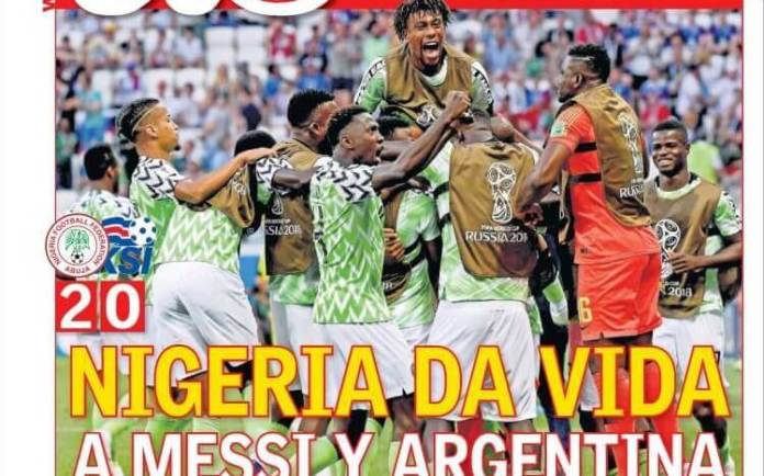 Nigeria da vida a Argentina