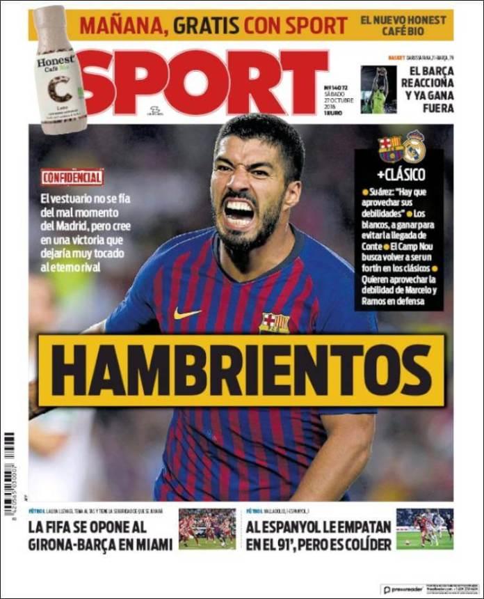 Portada Sport 27/10/2018