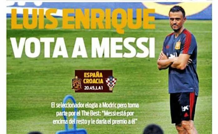 Lucho vota a Messi