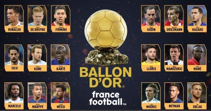 Los 30 Candidatos al Balón de Oro 2018