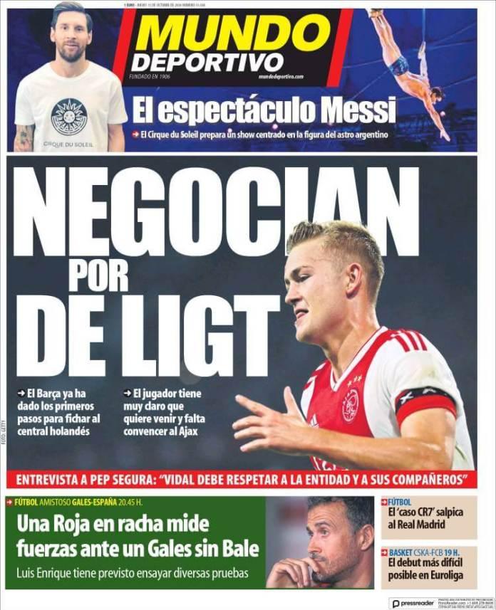 Portada diario Mundo Deportivo 11/10/2018