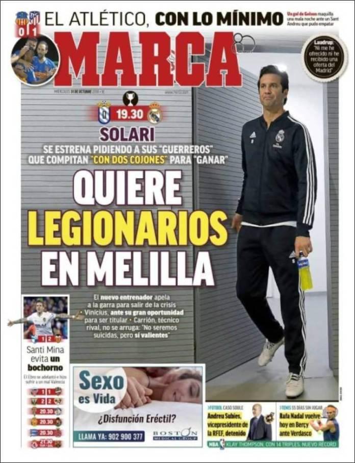 Portadas Marca 31/10/2018