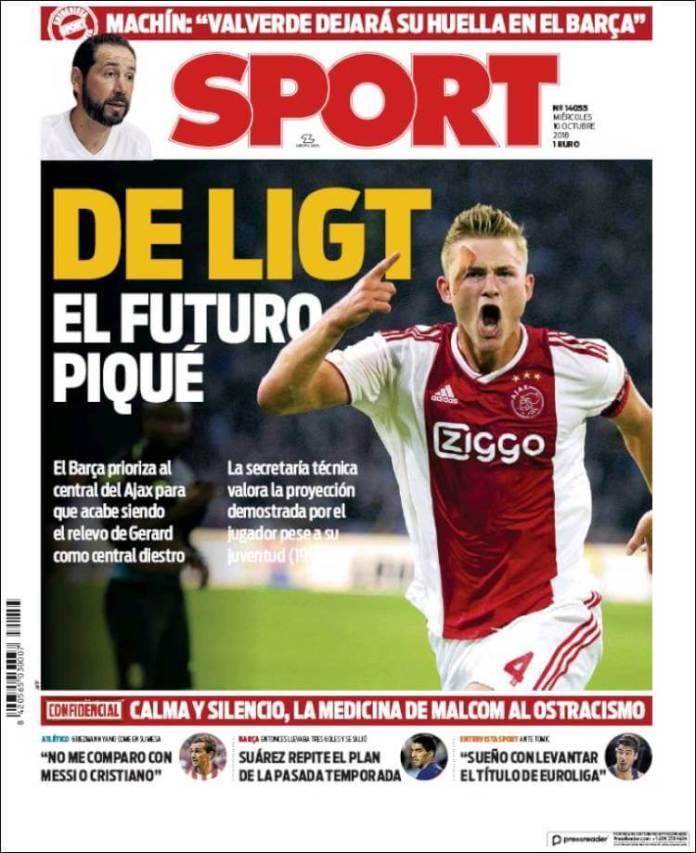 Portadas Sport 10/10/2018