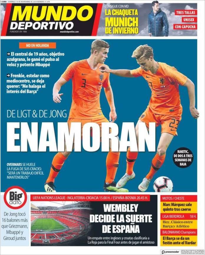 Portada Mundo Deportivo 18/11/2018