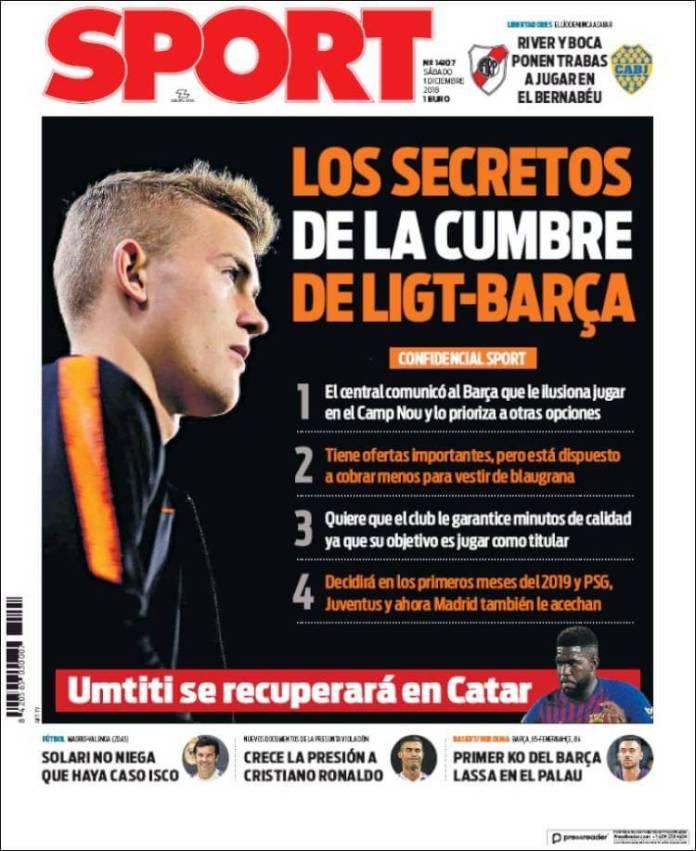 Portada Sport 1/12/2018