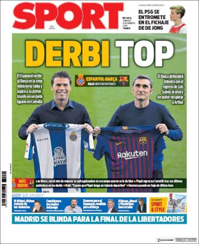 Portada Sport 8/12/2018