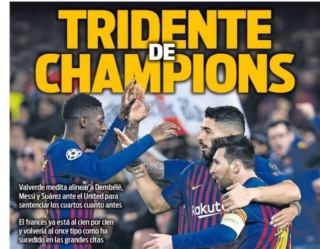 Portadas Deportivas 15/04/2019