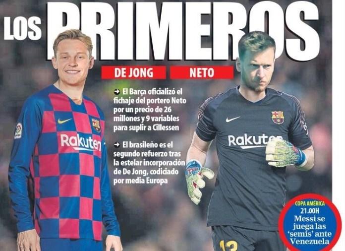 Portadas Deportivas 28/06/2019