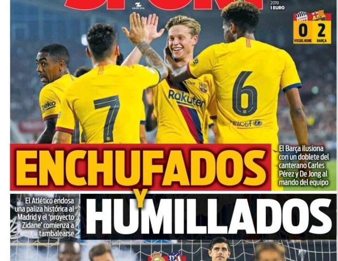 Las Portadas Deportivas 28/07/2019