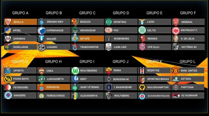 Fixture Europa League 2019-2020