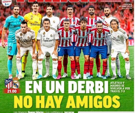 Portadas Deportivas 28/09/2019