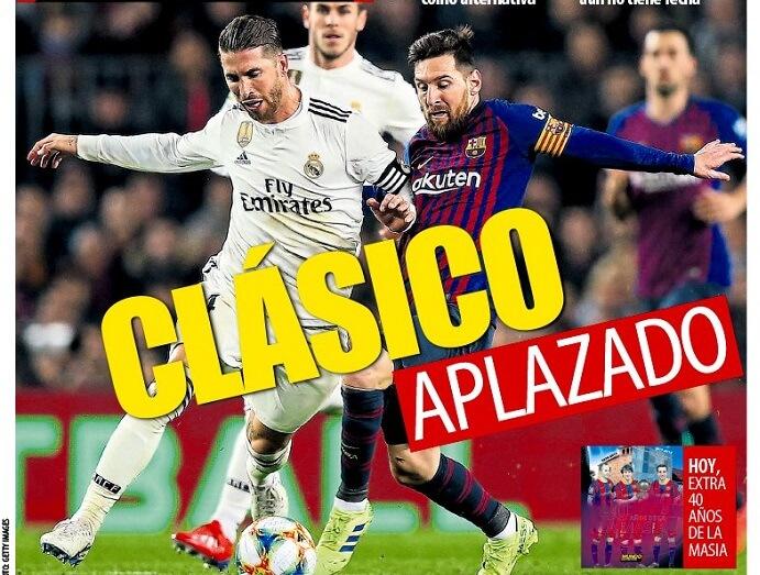 Portadas Deportivas 18/10/2019