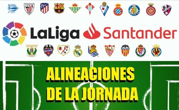 Alineaciones Jornada 21 Liga Española 2020
