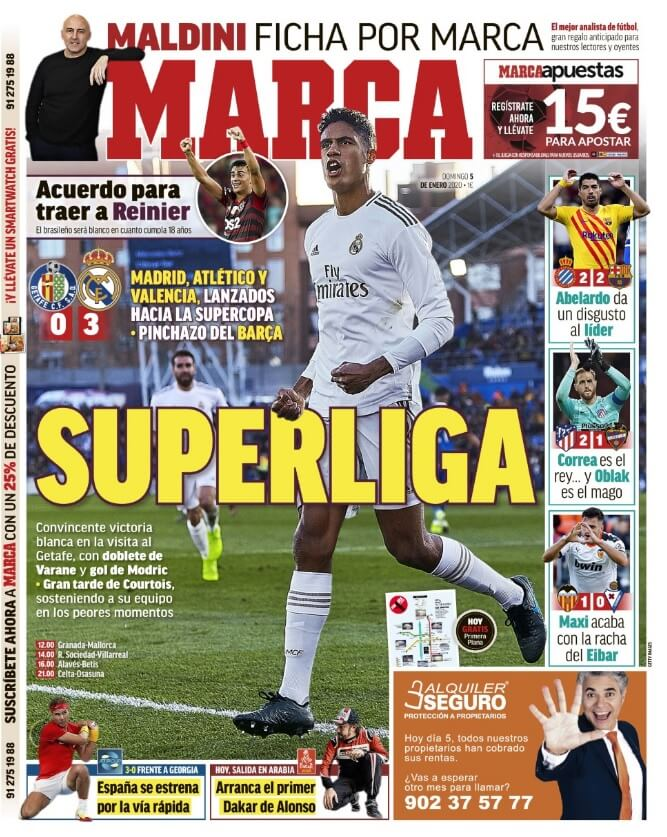 Portada Diario Marca Hoy