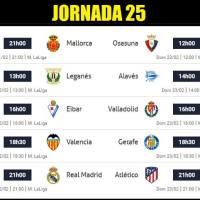 Partidos Jornada 25 Liga Española 2020 | Horarios y Clasificación