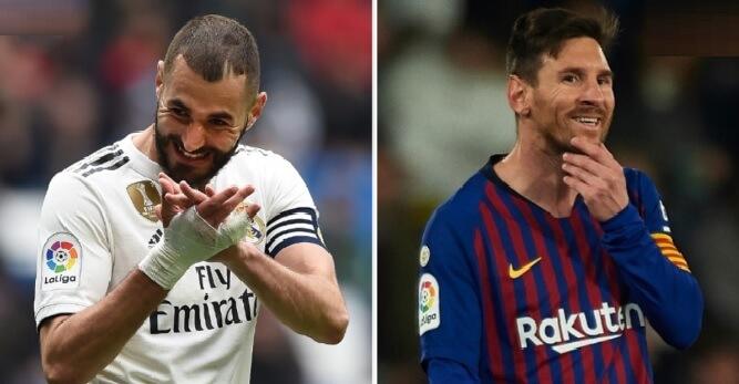 Benzema se acerca a Messi en la lucha por el Pichichi
