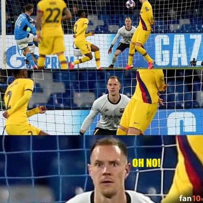 Memes Napoli-Barcelona Octavos Champions 2020