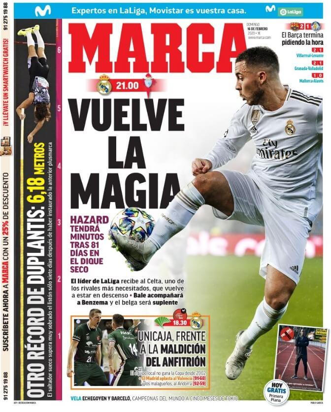 Portadas Diarios Deportivos Domingo 16/02/2020