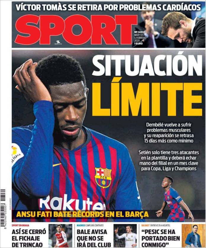 Portada Diario Sport