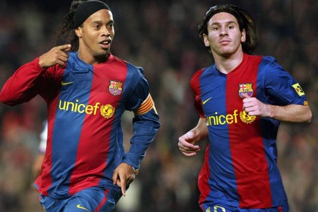Ronaldinho Messi maradona