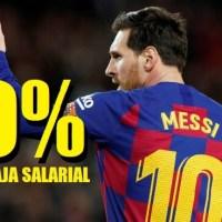 Messi confirma que los jugadores se bajan el sueldo un 70%