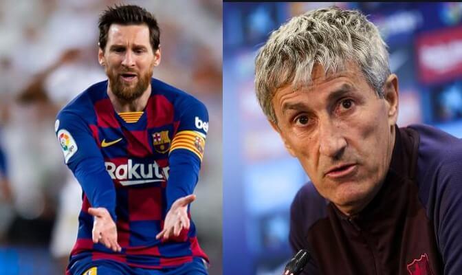 """Setién: """"No importa que Messi no meta goles"""""""