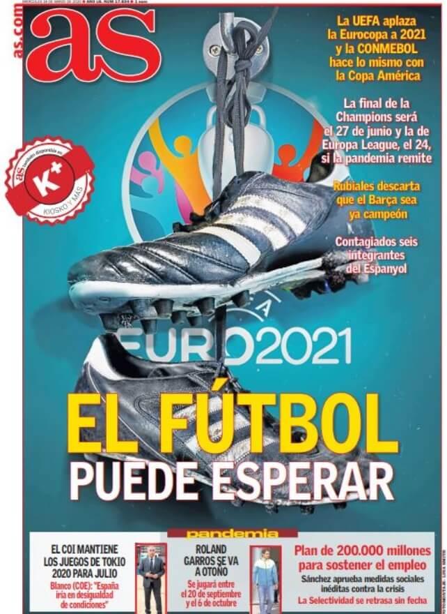 Portadas Diarios Deportivos Miércoles 18/03/2020