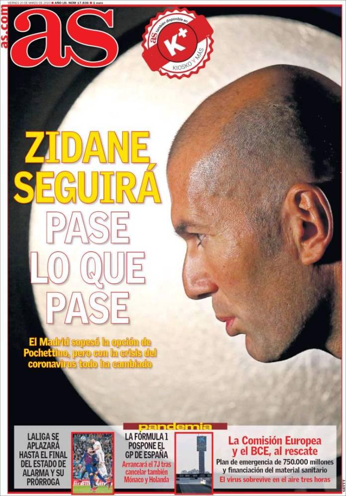 Portadas Diarios Deportivos Viernes 20/03/2020