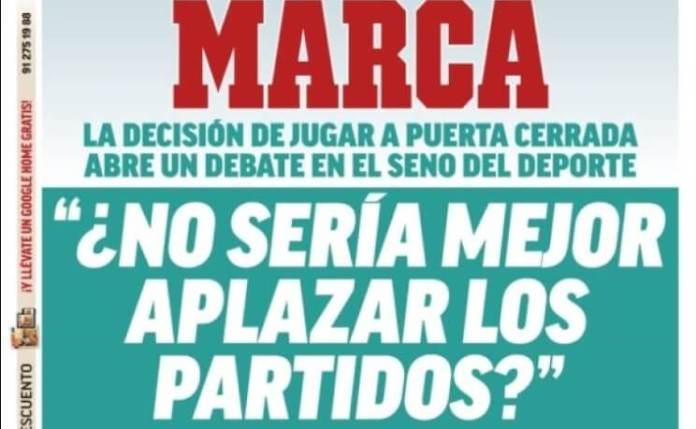 Portadas Diarios Deportivos Miércoles 11/03/2020