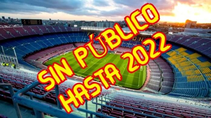 Vuelve el Fútbol pero Sin Público hasta 2022