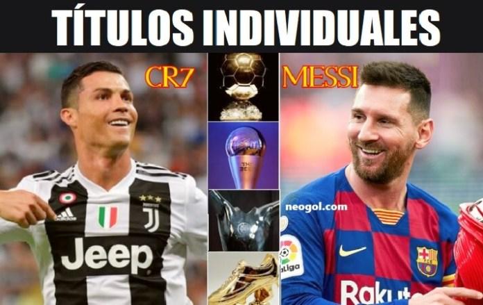 Leo Messi vs. Cristiano Ronaldo Títulos Individuales