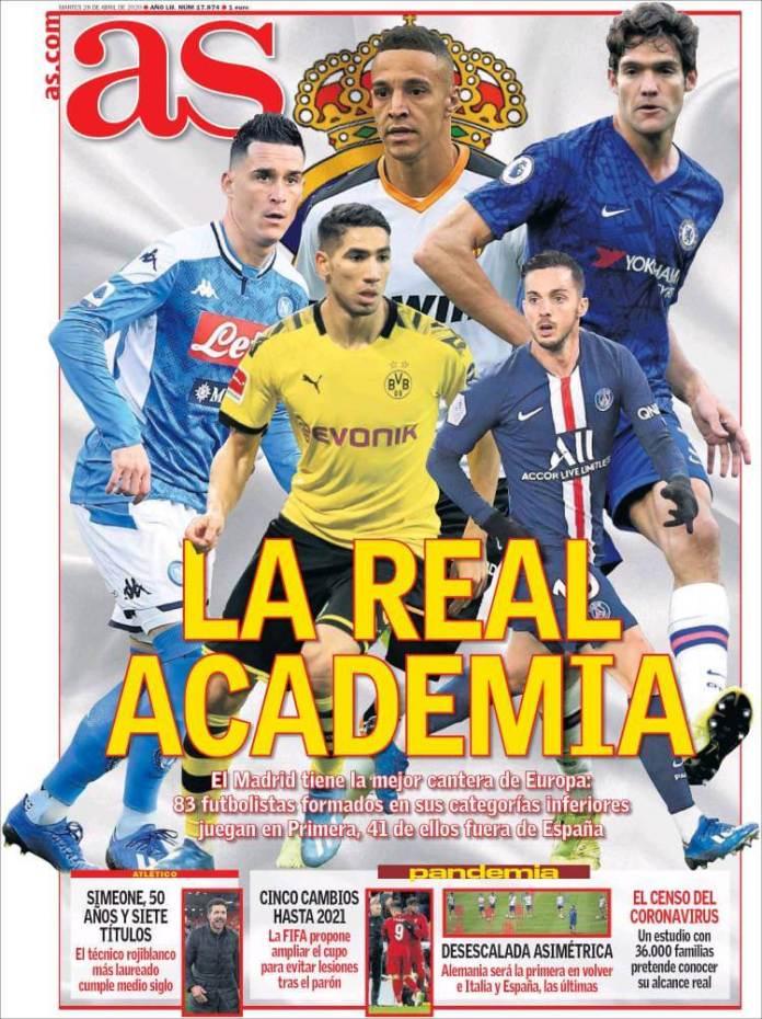 Portadas Diarios Deportivos Martes 28/04/2020