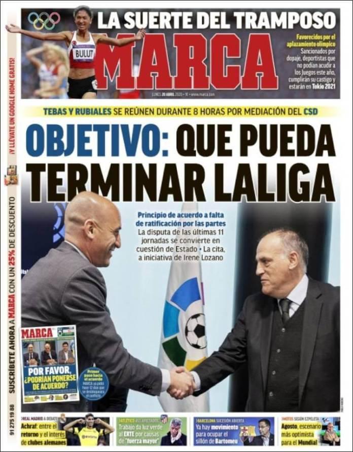 Portadas Diarios Deportivos Lunes 20/04/2020