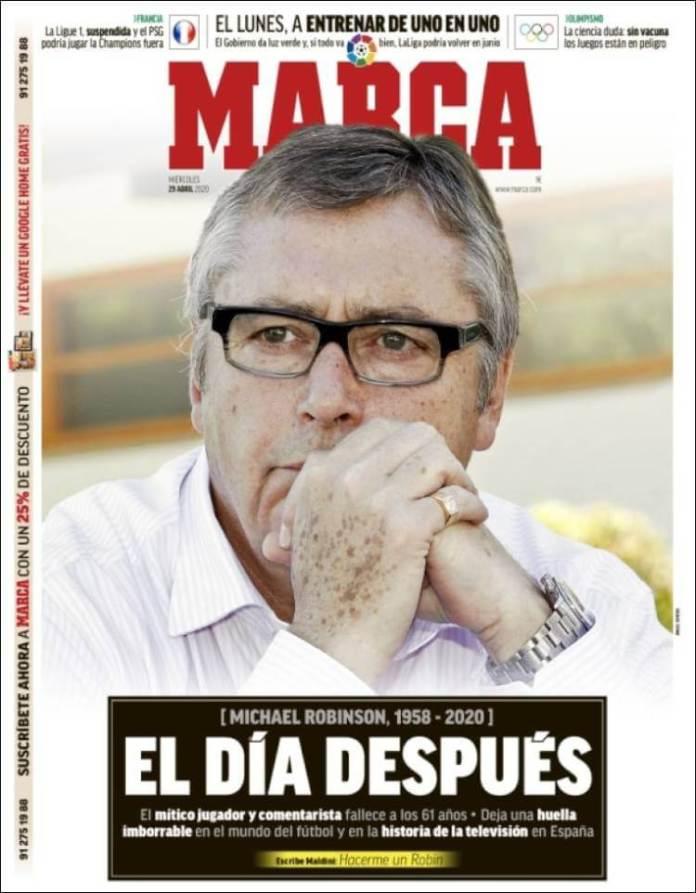 Portadas Diarios Deportivos Miércoles 29/04/2020