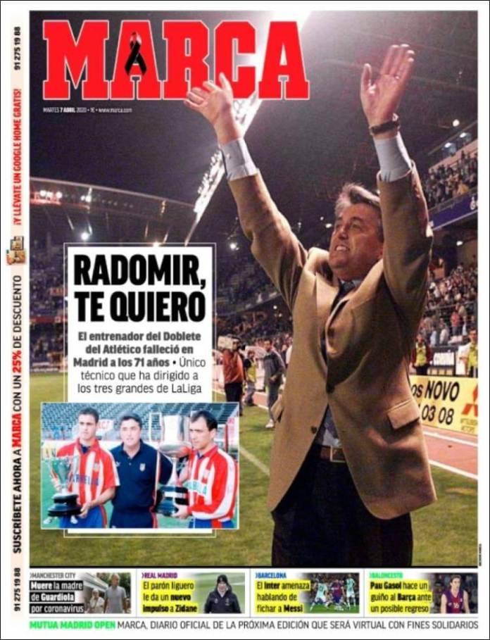 Portadas Diario Marca Martes 7/04/2020