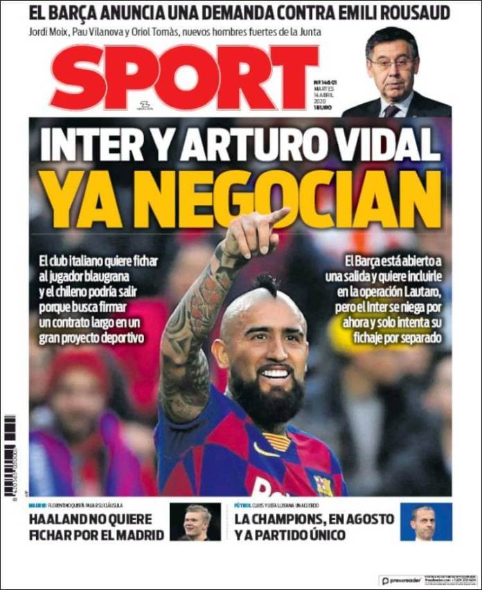 Portadas Diarios Deportivos Martes 14/04/2020