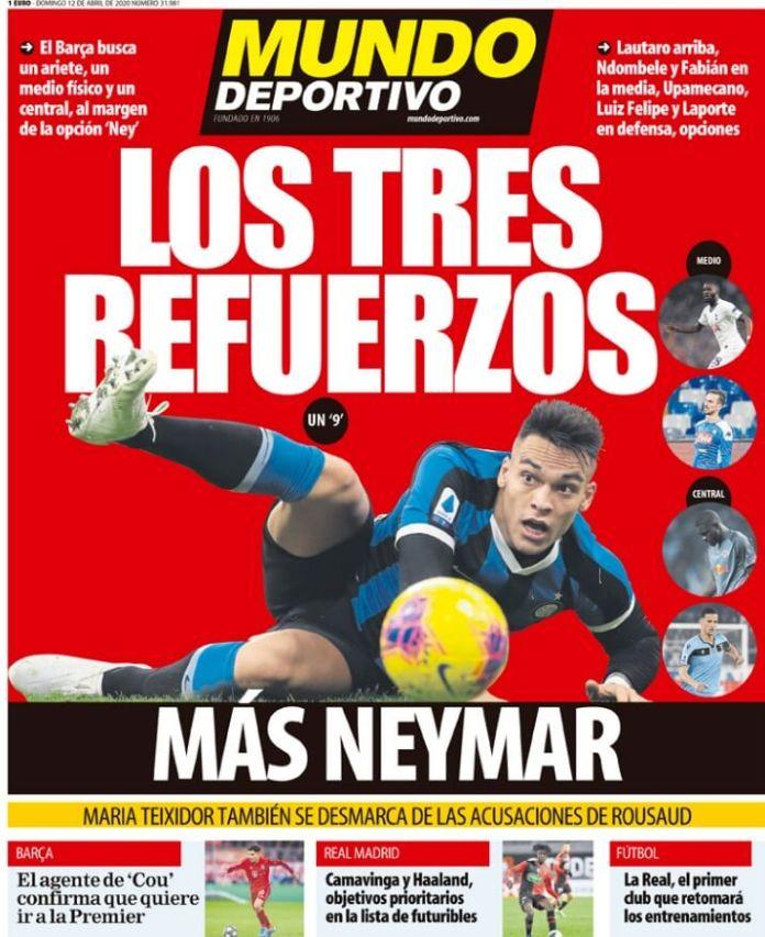 Portadas Diarios Deportivos Domingo 12/04/2020