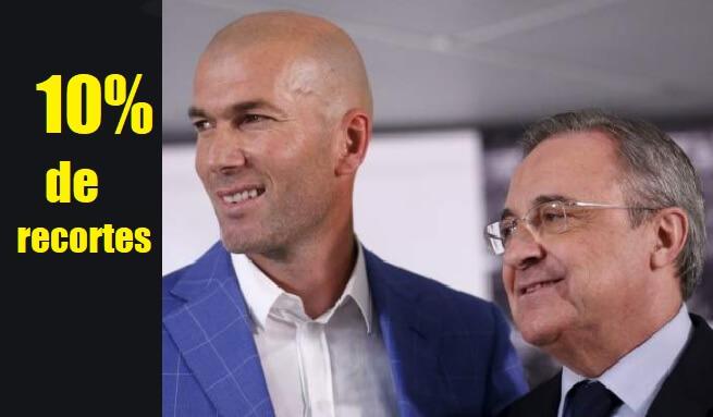 Los jugadores del Madrid se bajan un 10% el sueldo