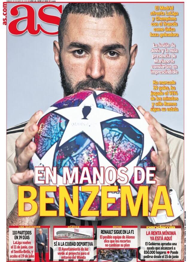 Portadas Diarios Deportivos Sábado 30/05/2020