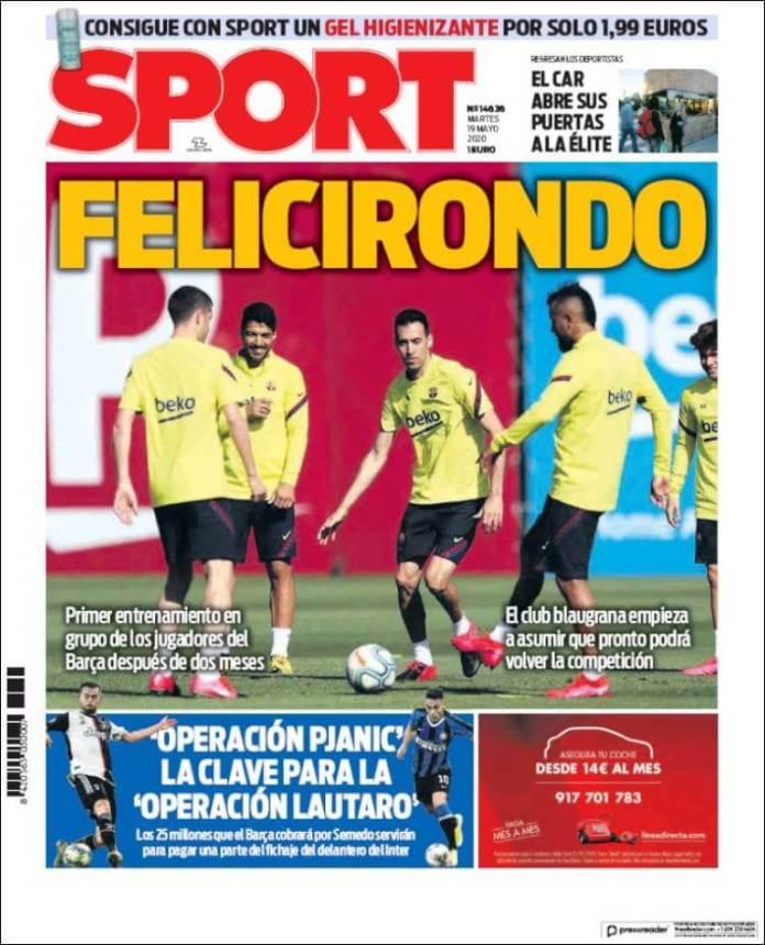 Portadas Diarios Deportivos Martes 19/05/2020