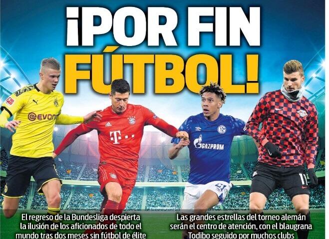 Portadas Diarios Deportivos Sábado 16/05/2020