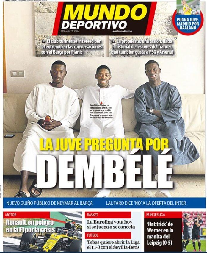 Portadas Diarios Deportivos Lunes 25/05/2020