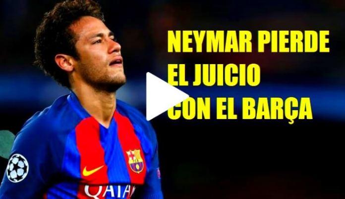 Neymar pierde el Juicio con el Barça: Deberá pagar 6,7 Millones