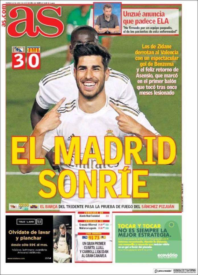 Portadas Diarios Deportivos Viernes 19/06/2020
