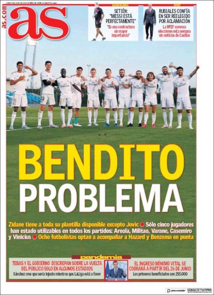 Portadas Diarios Deportivos Lunes 8/06/2020
