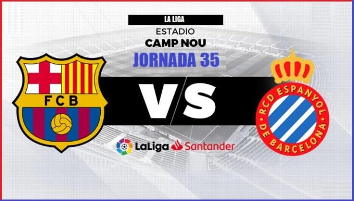 Alineación Barcelona-Espanyol Jornada 35