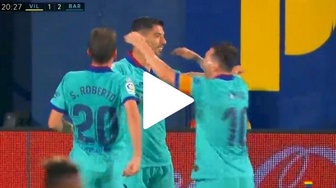 ¡QUÉ GOLAZO! Asistencia de Messi y zapatazo de Suárez
