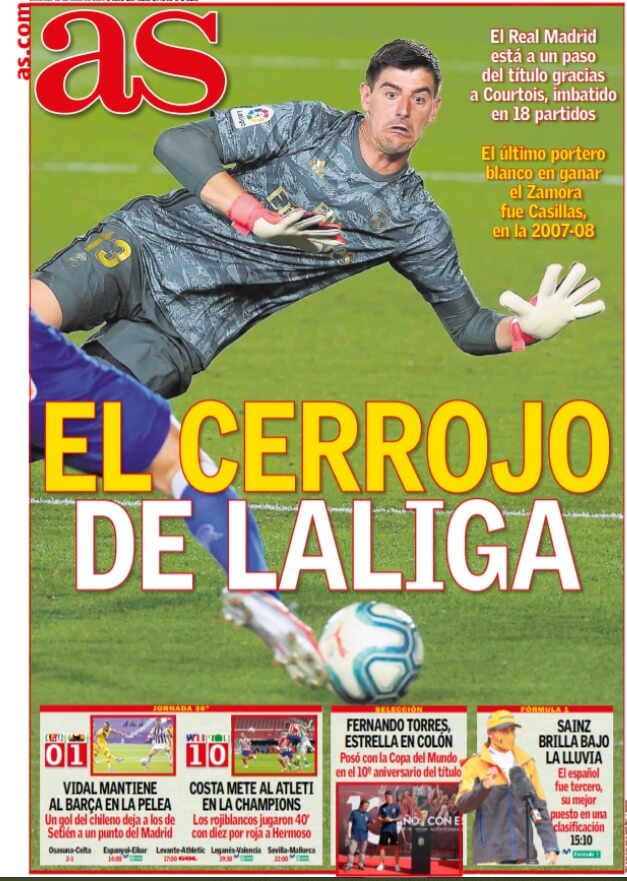 Portadas Diarios Deportivos Domingo 12/07/2020